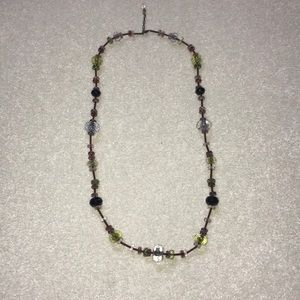 "Vintage Sabika long bead necklace - 40"""